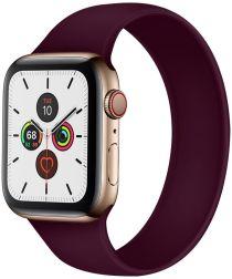 Apple Watch 40MM / 38MM Bandje Solo Loop Siliconen Paars (Maat: S)
