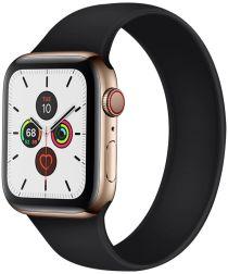 Apple Watch 44MM / 42MM Bandje Solo Loop Siliconen Zwart (Maat: M)