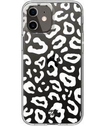 HappyCase Apple iPhone 12 Hoesje Flexibel TPU Luipaard Print