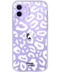 HappyCase iPhone 12 / 12 Pro Hoesje Flexibel TPU Luipaard Print