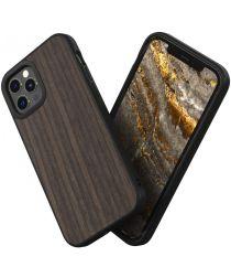 RhinoShield SolidSuit Apple iPhone 12 / 12 Pro Hoesje Black Oak