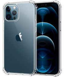 Apple iPhone 12 Pro Hoesje Schokbestendig en Dun TPU Transparant