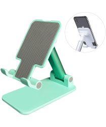 Verstelbare Universele Aluminium Houder Smartphone en Tablet Groen