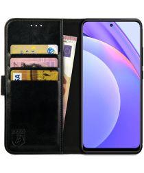 Rosso Element Xiaomi Mi 10T Lite Hoesje Book Cover Wallet Case Zwart