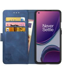 Rosso Element OnePlus 8T Hoesje Book Cover Wallet Case Blauw