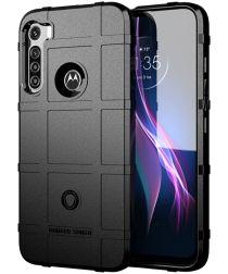 Motorola Moto One Fusion Plus Hoesje Rugged Shield Zwart