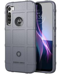 Motorola Moto One Fusion Plus Hoesje Rugged Shield Grijs