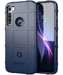 Motorola Moto One Fusion Plus Hoesje Rugged Shield Blauw
