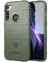 Motorola Moto One Fusion Plus Hoesje Rugged Shield Groen