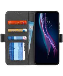 Motorola Moto One Fusion Plus Portemonnee Stand Hoesje Zwart
