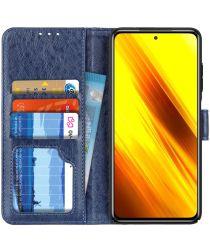 Xiaomi Poco X3 / X3 Pro Hoesje Book Case met Pasjes Kunstleer Blauw