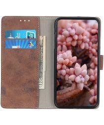 Nokia 8.3 Hoesje Portemonnee Book Case Kunstleer Donkerbruin