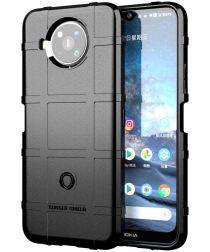 Nokia 8.3 Hoesje Shock Proof Rugged Shield Back Cover Zwart