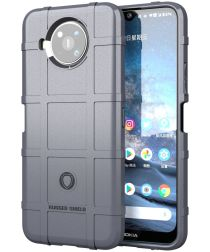 Nokia 8.3 Hoesje Shock Proof Rugged Shield Back Cover Grijs