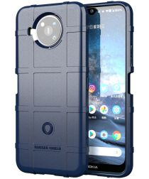 Nokia 8.3 Hoesje Shock Proof Rugged Shield Back Cover Blauw
