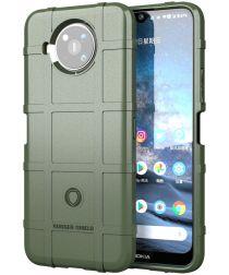 Nokia 8.3 Hoesje Shock Proof Rugged Shield Back Cover Groen
