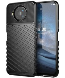 Nokia 8.3 Twill Thunder Texture Back Cover Zwart