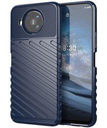 Nokia 8.3 Twill Thunder Texture Back Cover Blauw