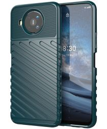 Nokia 8.3 Twill Thunder Texture Back Cover Groen