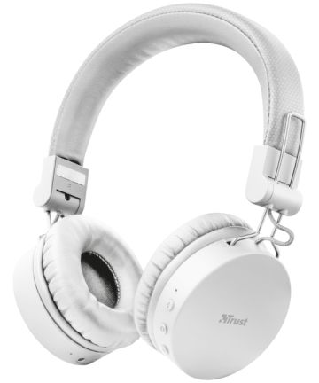 Trust Tones Bedraad/Bluetooth Draadloze On-Ear Koptelefoon Wit Headsets