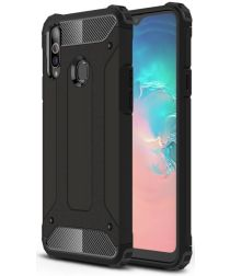 Samsung Galaxy A20s Hoesje Shock Proof Hybride Back Cover Zwart