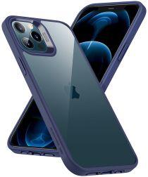 ESR Classic Hybrid Apple iPhone 12 / 12 Pro Hoesje Transparant Blauw