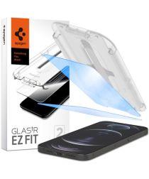 Spigen Ez Fit Anti Blue Tempered Glass Apple iPhone 12 (Pro) 2-Pack