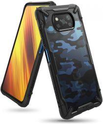 Ringke Fusion X Xiaomi Poco X3 / X3 Pro Hoesje Back Cover Camo Zwart