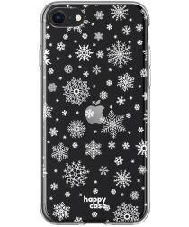 HappyCase Apple iPhone SE 2020 Hoesje Flexibel TPU Sneeuwvlokken Print