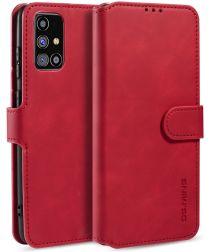 DG Ming Samsung Galaxy M31s Retro Portemonnee Hoesje Rood