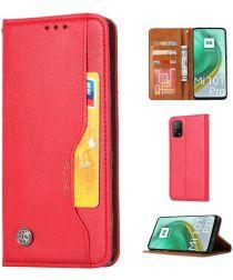 Xiaomi Mi 10T/10T Pro 5G Lederen Wallet Stand Hoesje Rood