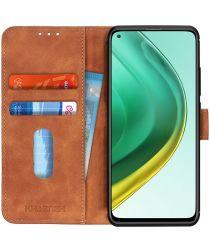 Xiaomi Mi 10T (Pro) Hoesje Retro Wallet Book Case Bruin