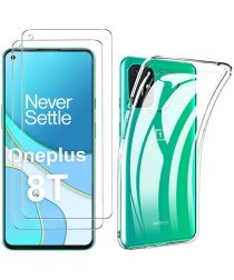 OnePlus 8T Soft Case + Screen Protector Transparant