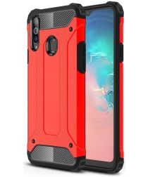 Samsung Galaxy A20s Hoesje Shock Proof Hybride Back Cover Rood