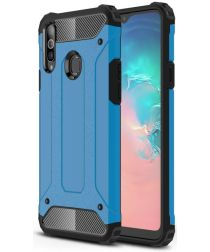 Samsung Galaxy A20s Hoesje Shock Proof Hybride Back Cover Blauw