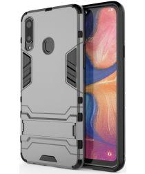 Samsung Galaxy A20s Hybride Hoesje met Kickstand Grijs