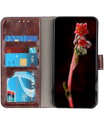 Samsung Galaxy M51 Crazy Horse Portemonnee Stand Hoesje Bruin