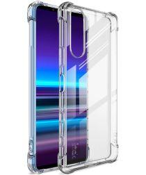 IMAK Sony Xperia 5 II Hoesje TPU met Screenprotector Transparant