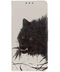 Motorola Moto G9 Play / Moto E7 Plus Portemonnee Hoesje Wolf Print