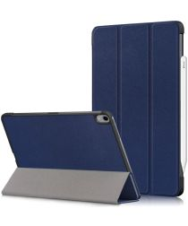 iPad Air (2020) Hoesje Tri-Fold Book Case Blauw