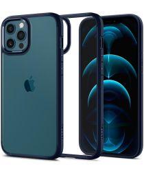 Spigen Ultra Hybrid Apple iPhone 12 / 12 Pro Hoesje Transparant/Blauw