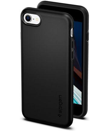Spigen Thin Fit Pro Apple iPhone 7 / 8 / SE 2020 Zwart Hoesjes