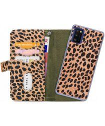 Mobilize Gelly Wallet Zipper Samsung Galaxy A41 Hoesje Olive Leopard