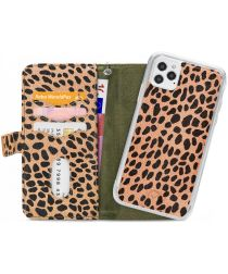 Mobilize Gelly Wallet Zipper iPhone 12 / 12 Pro Hoesje Olive Leopard