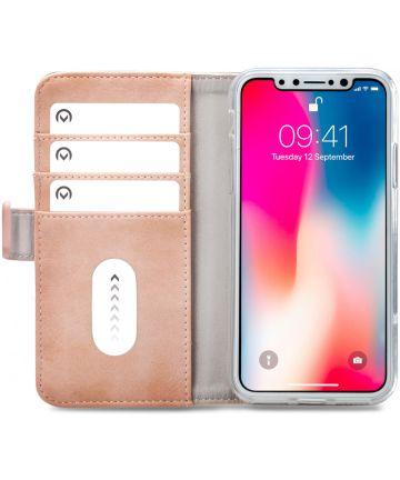 Mobilize Elite Gelly Wallet Apple iPhone XS / X Hoesje Book Case Roze Hoesjes