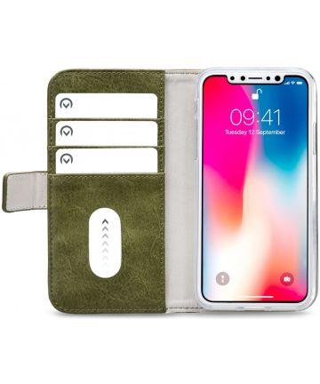 Mobilize Elite Gelly Wallet Apple iPhone XS / X Hoesje Book Case Groen Hoesjes