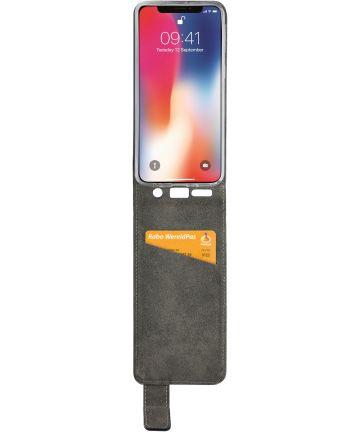Mobilize Classic Gelly Flip Case Apple iPhone XS / X Hoesje Zwart Hoesjes
