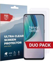 Rosso OnePlus Nord N10 Ultra Clear Screen Protector Duo Pack