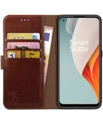 Rosso Element OnePlus Nord N100 Hoesje Book Cover Wallet Case Bruin