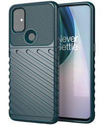 OnePlus Nord N10 5G Hoesje TPU Thunder Design Groen